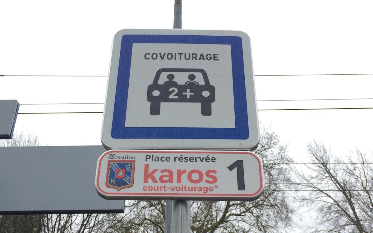 Photo de la place de parking court-voiturage à Breuillet