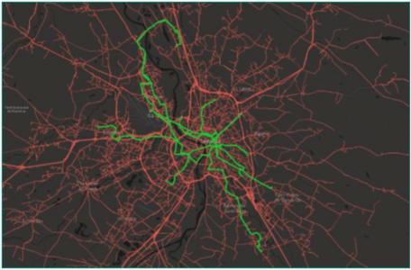 Cartographie des utilisateurs sur la ville de Toulouse