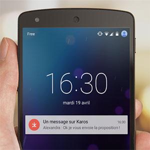 notification de chat