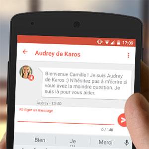 Parler avec Audrey